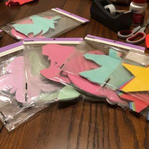 Die cut shapes formed Decoupees. Arts and crafts